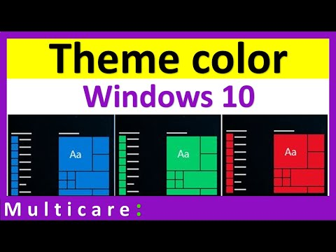 How to change theme color in windows 10