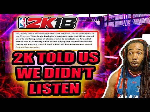 NBA 2K18 - 2K TOLD US THEY DIDN'T MAKE MYCAREER & PRO-AM FOR SKILLED PLAYERS, WE DIDN'T LISTEN