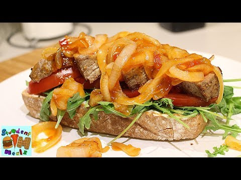 Sweet and Sour Steak Sandwich