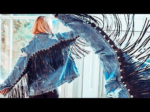 Fringe Studded Rock Style Denim Jacket | FASHION DIY