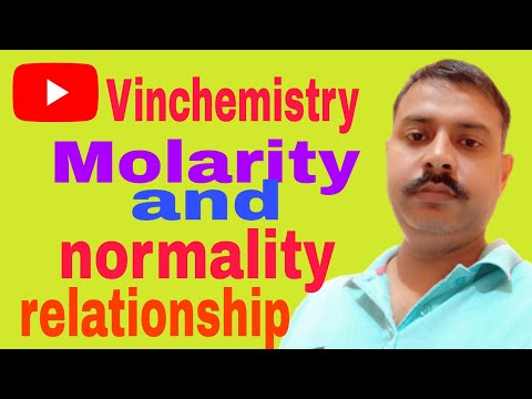 normality and molarity relation
