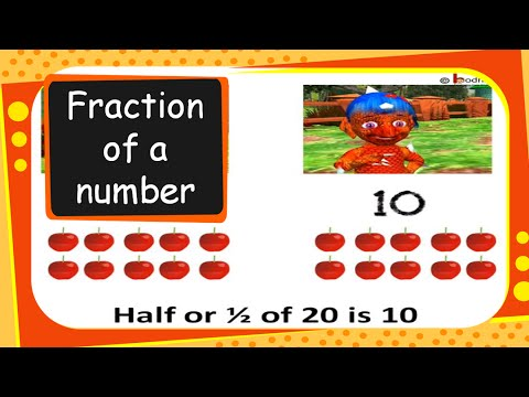 Maths - How to Find Fraction of Number or a Collection - English