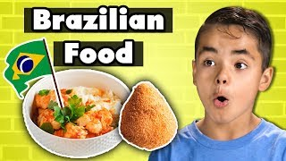 Kids Try Brazilian Food | Kids Vs. Food