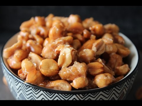 How To Make Crispy Caramel Covered Salt Roasted Peanuts - By One Kitchen Episode 682