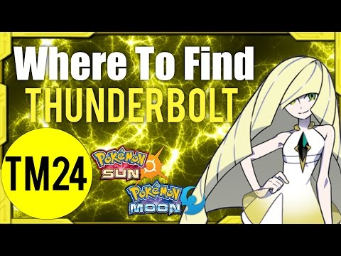 Where To Find Thunderbolt (TM24) – Pokemon Sun and Moon Guide