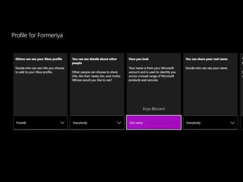 HOW TO CHANGE YOUR REAL NAME ON XBOX ONE 2018