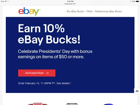 10% eBay Bucks: Gold Under Spot 👍