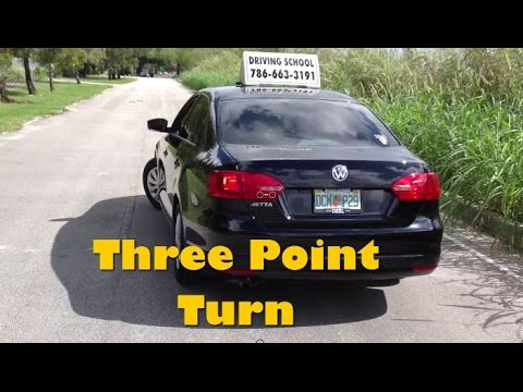 A THREE POINT TURN   DRIVING TEST EXAM