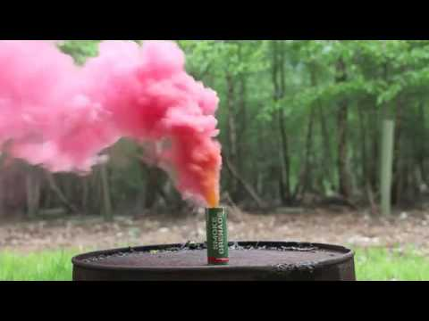 red smoke grenade sold at Manchester Fireworks