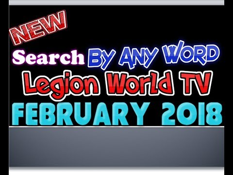 Legion WORLD IPTV || Search By Any Word  || Best Plugin 2018