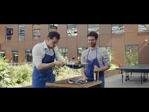 Recette de volaille sautée aux légumes croquants par Juan Arbelaez avec la table induction InfiFlex