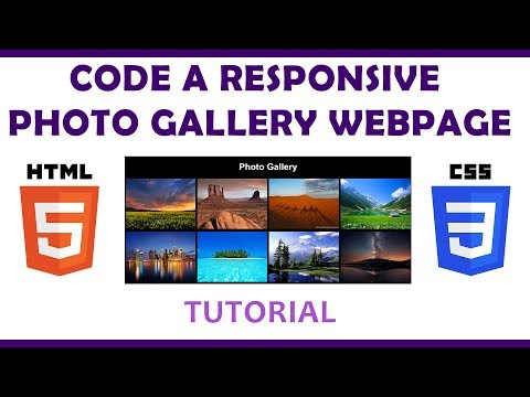 Code a Responsive Photo Gallery in HTML/CSS