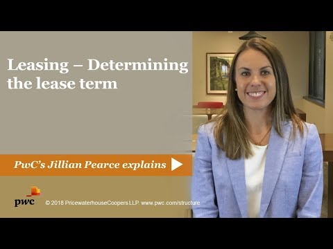 Leasing - Determining the lease term