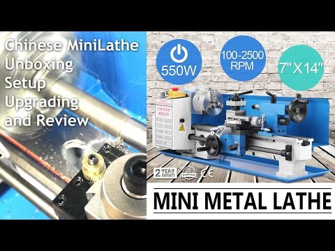 Cheap Chinese Mini Metal Lathe Unboxing, Setup, Upgrading, and Testing