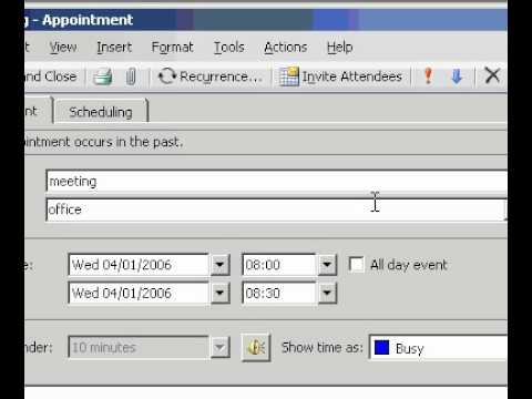 Microsoft Office Outlook 2003 Set or remove a reminder For existing appointments or meetings