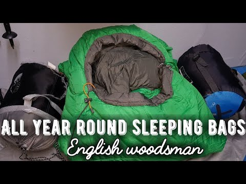 My choice of 4 different sleeping bags for 4 season camping .