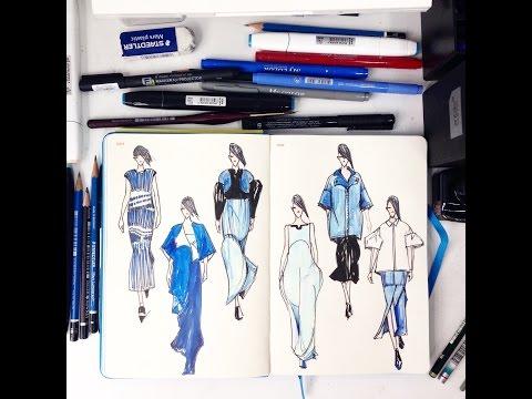 Runway Sketching---Kenzo SS2015