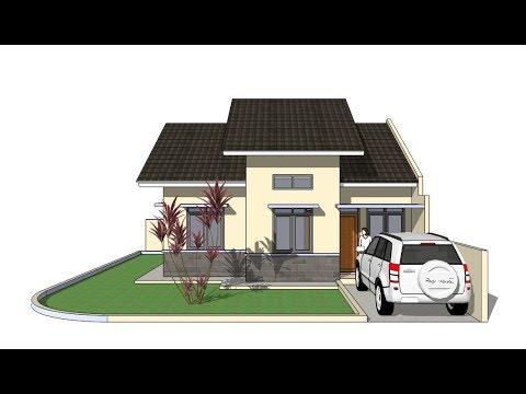 Sketchup make a house design
