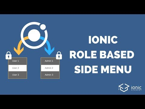 Ionic Side Menu With Role Based Authentication