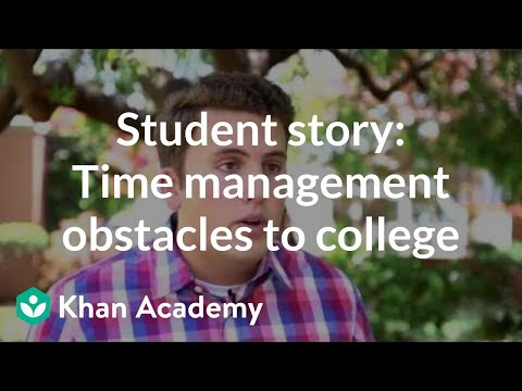 Student story: Overcoming time management obstacles to college