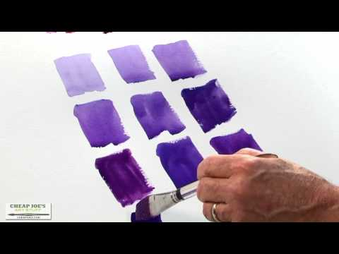 Watercolor Techniques with Don Andrews - Mixing Violets