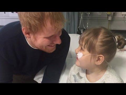 Ed Sheeran Serenades Girl With Rare Disease Who Calls Him Her 'Prince Charming'