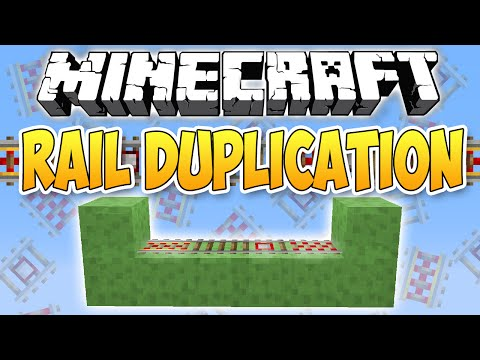 Minecraft Tutorial | 1.9.4 + 1.10 + 1.11 | All Rail Duplication ! ! !