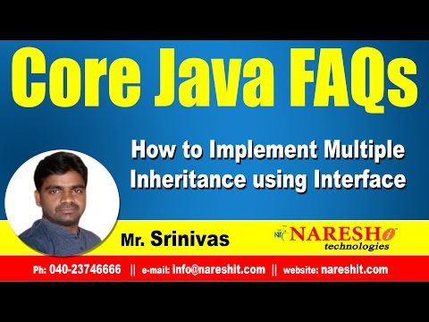 How to implement Multiple Inheritance using Interface?   Core Java FAQs Videos