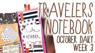 #CREEPYCRAFTYDAYS // Week 3 Travelers Notebook October Daily