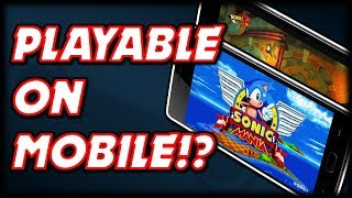 Sonic mania Android Alpha\Vr 7 + link in the description