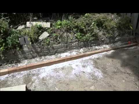 Building A Wooden Retaining Wall With 4x4 Timbers