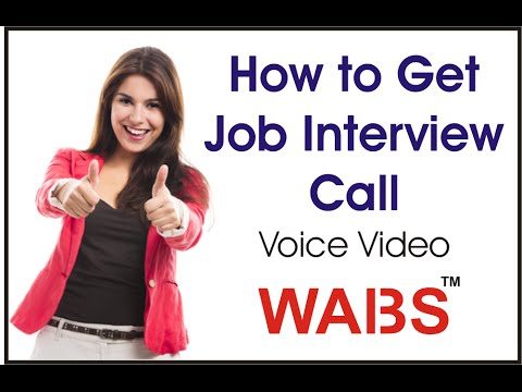 How to Get  a Job Interview Call
