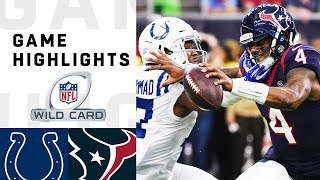 Colts vs. Texans Wild Card Round Highlights | NFL 2018 Playoffs