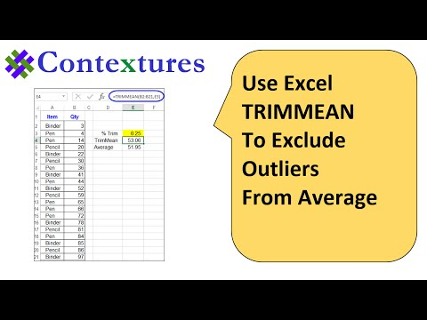 Use Excel TRIMMEAN Function For Average That Excludes Outliers