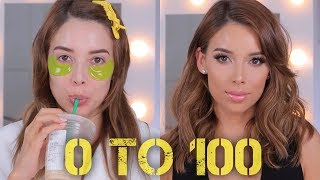0 TO 100: GRWM HAIR AND MAKEUP | LUSTRELUX