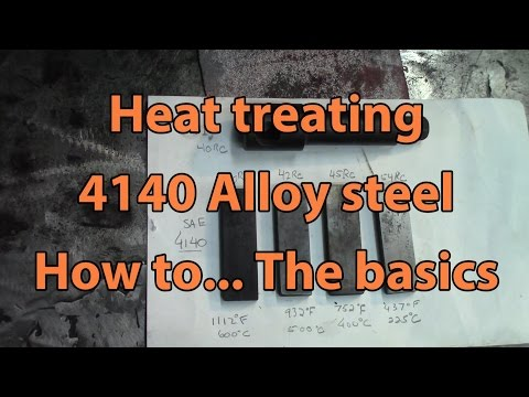 Heat treating 4140 Alloy Steel - The basics on hardening and tempering