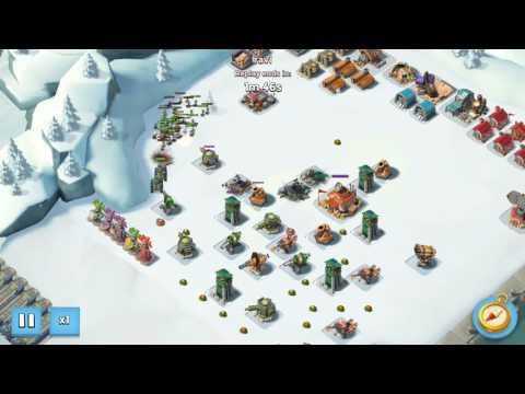 Boom beach game.. destroying enemy base