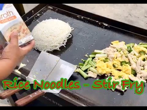 ♨️ How To Make Chicken Stir Fry With Rice Noodles On The Blackstone Griddle