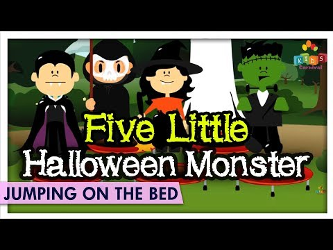 Halloween Monster Jumping On The Bed - Learn & Sing Jumping On The Bed Kids Rhymes - Kids Carnival