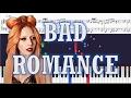 Lady Gaga - Bad Romance - Piano Tutorial w/ Sheets