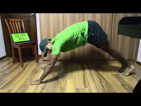 20 sec Intensity Workout - Push-up, Shin Grab Sit-ups & Squats