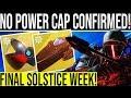 Destiny 2 BUNGIE CONFIRMS UNLIMITED POWER CAP DLC Prep Weekly Reset Nightfalls Vendors amp More