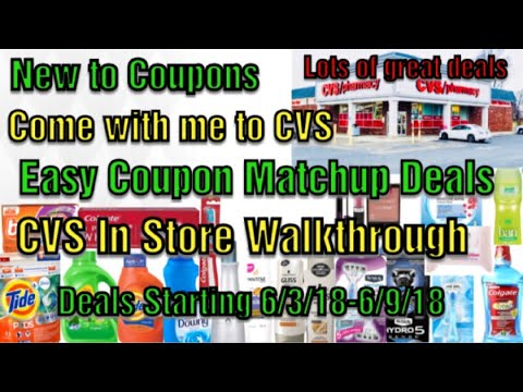 New to Coupons Start Here| Easy Coupon matchup deals 6/3 -6/9/18|Come with me to CVS|CVSWALKTHROUGH