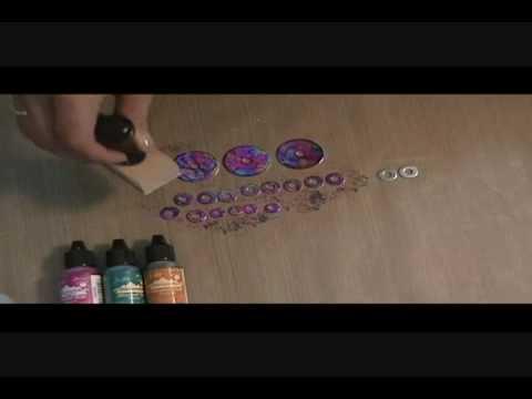 Alcohol Inked Washers.wmv