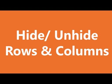 Excel Shortcuts - Hide and Unhide Rows and Columns