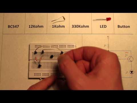 Logic NOR gate made using transistors