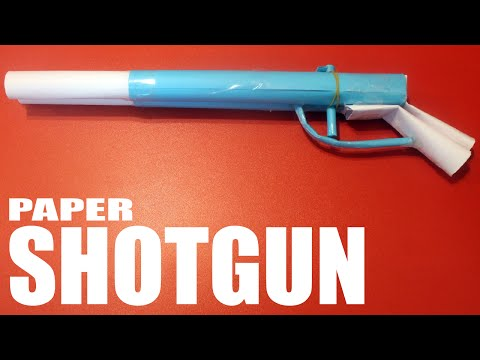 How to make a paper shotgun that shoots