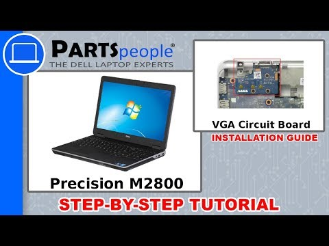Dell Precision M2800 (P29F001) VGA Circuit Board How-To Video Tutorials