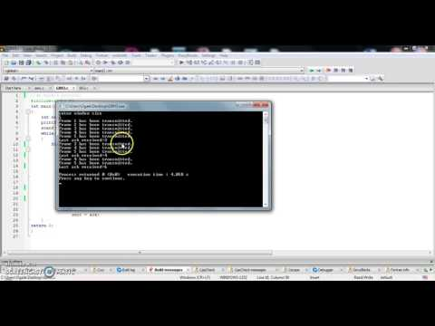 Simulation of sliding window protocols in C