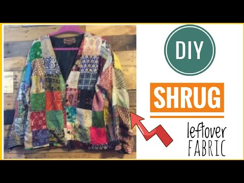 Short Ethnic Jacket from Leftover Fabric/ Reuse waste cloth(Hindi)